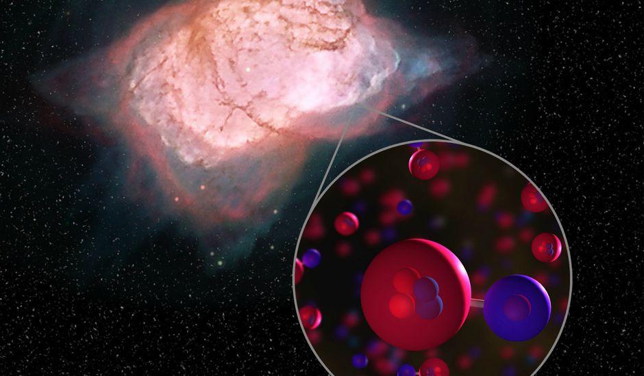 l'hydrure d'hélium, première molécule de l'histoire de notre univers, a été découverte par la NASA