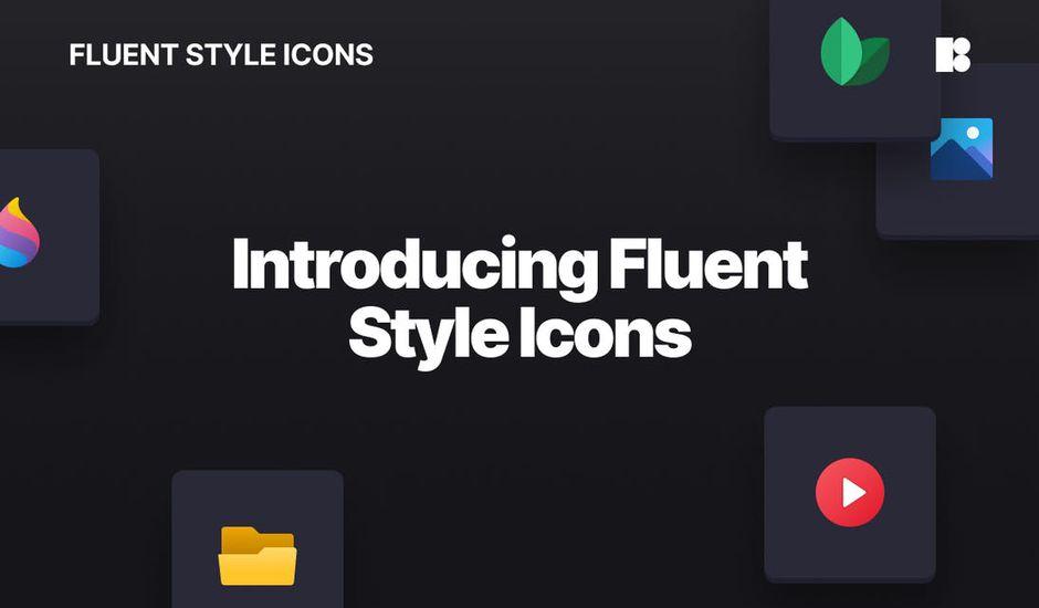 exemple des icônes dans le pack Fluent Icons