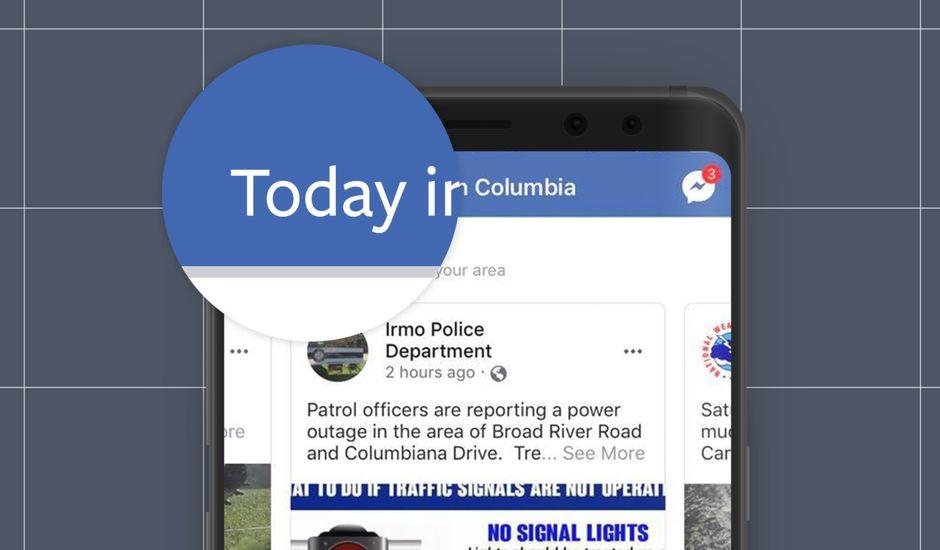 Nouvelle fonctionnalité pour Facebook : Today In.