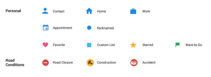 google maps design et icônes