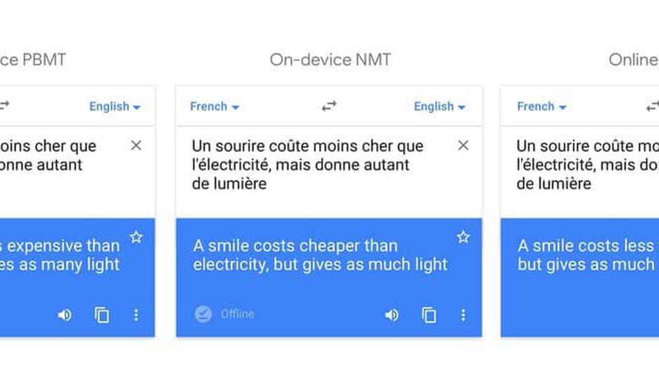 Google Traduction améliore son mode hors ligne à l'aide de l'IA