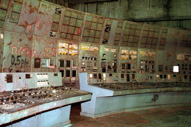 La salle de contrôle du réacteur 4 ouverte au public