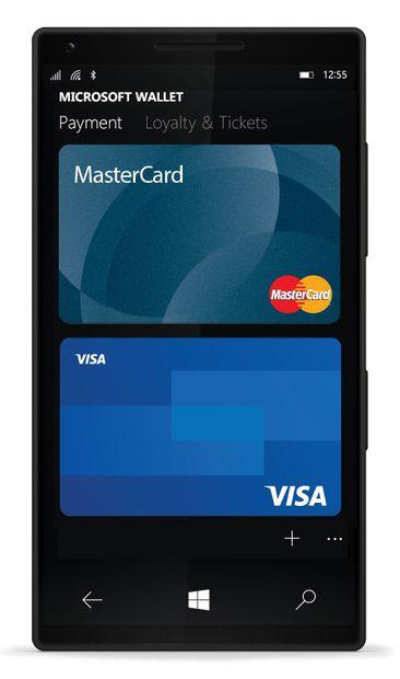 paiement mobile sur windows phone avec Mastercard et Visa