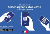 Aperçu de l'application StopCovid.