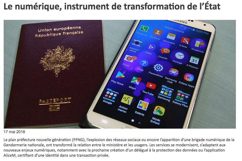 Une transformation numérique et digitale pour l'administration