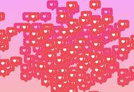 Un nuage de likes avec l'icône d'Instagram