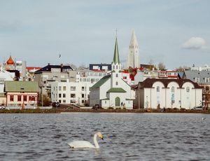 Aperçu d'une ville en Islande.