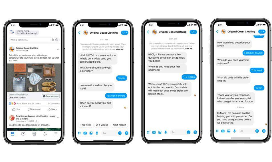 aperçu génération de prospects dans Messenger