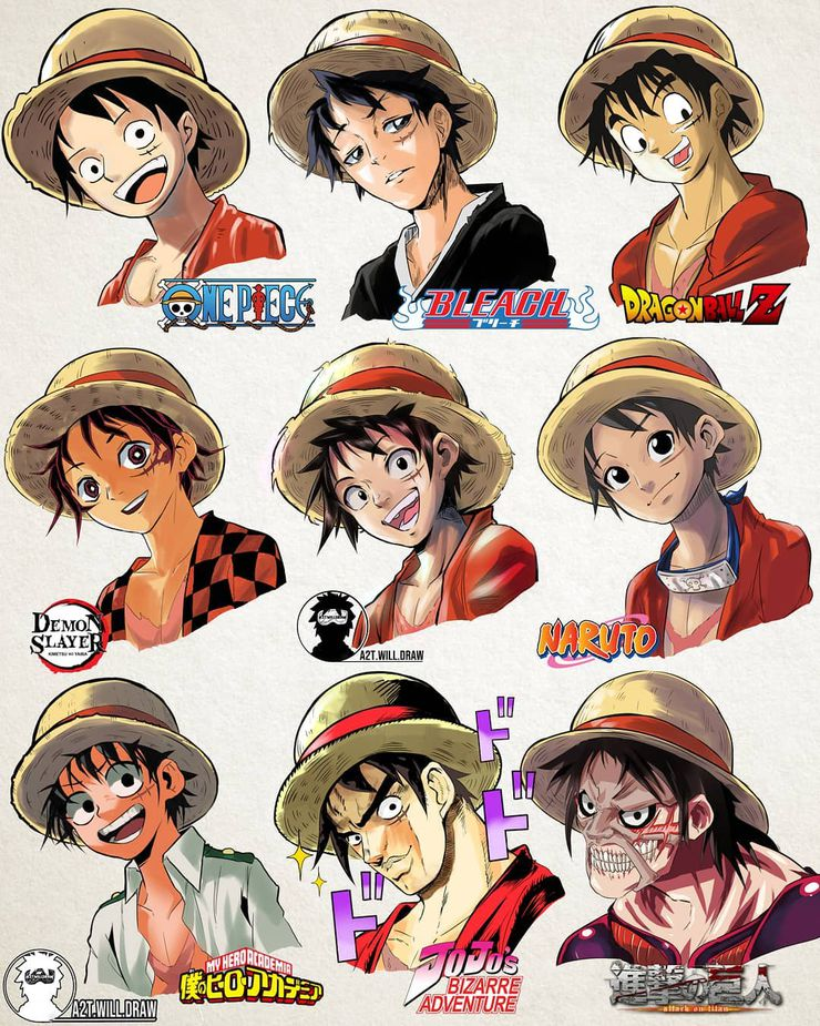 one piece luffy artwork a2t.will.draw