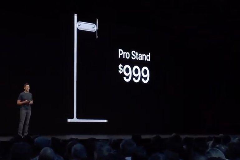 Le support Pro Stand des écrans Pro Display XDR sera vendu séparément