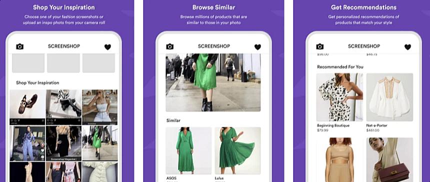Capture d'écran de l'interface Screenshop