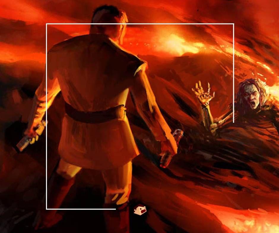 combat obi-wan kenobi contre dark vador sur mustafar
