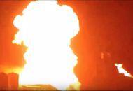 la fusée StarHopper a pris feu lors de son dernier test statique