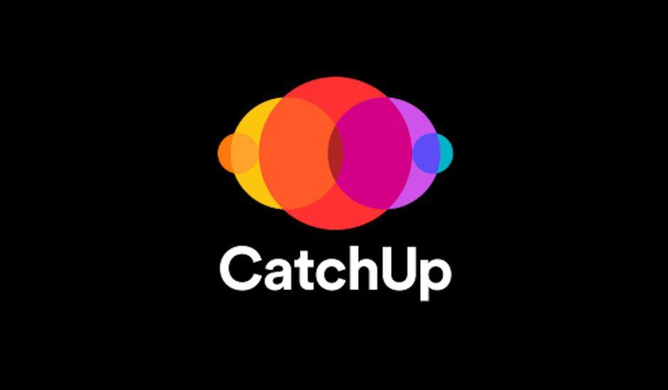 Le logo Catchup sur fond noir.