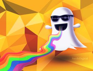 Illustration du logo de Snapchat