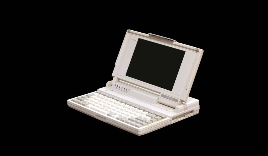 Le T1000, ordinateur portable sorti en 1987.