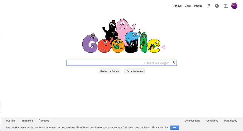 landing page minimaliste Google