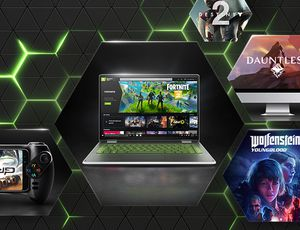GeForce NOW : un ordinateur qui utilise la plateforme de cloud gaming.