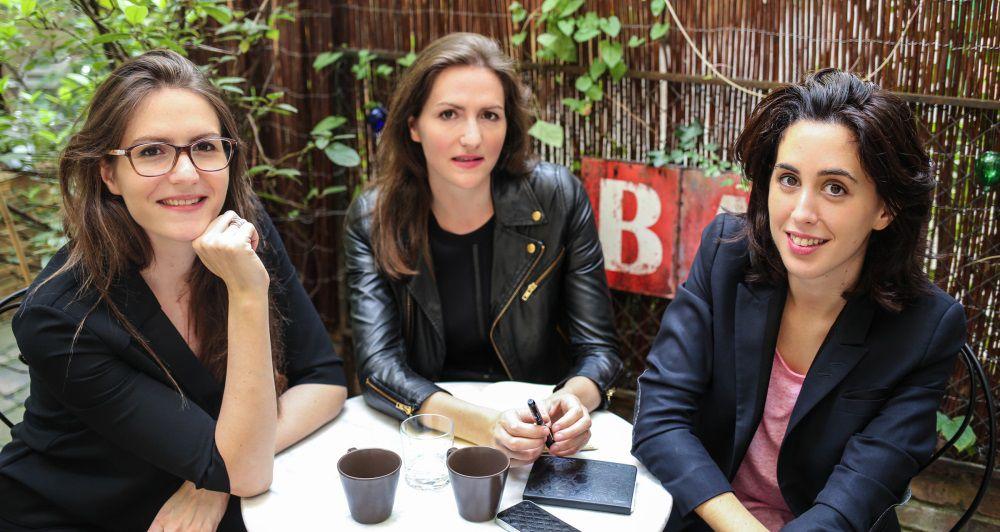De gauche à droite : Elise Covilette, Raphaëlle Covilette, et Béatrice Gherara
