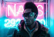 Aperçu d'une image futuriste avec un homme portant des lunettes.