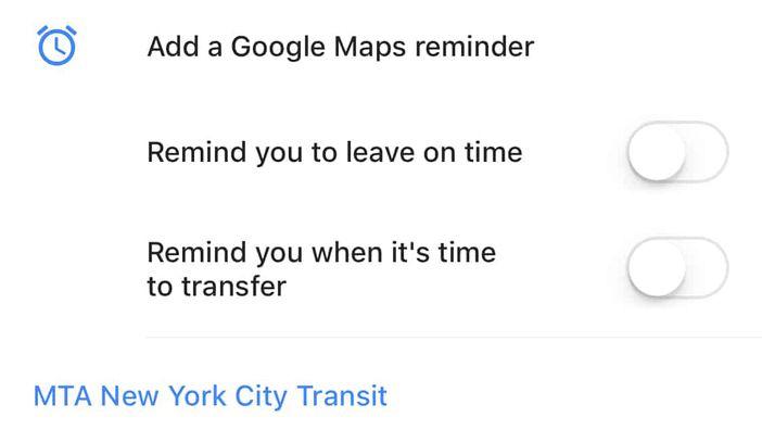 notification google maps