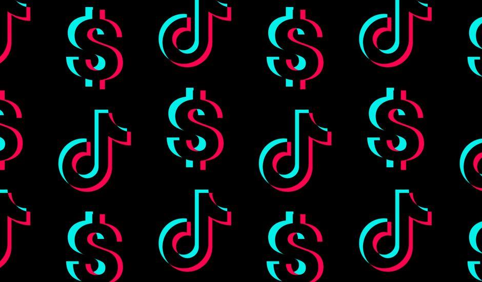 logo tiktok et dollars