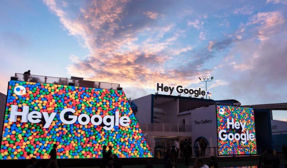 Google a triplé la surface de son stand au CES 2019, comparé à 2018