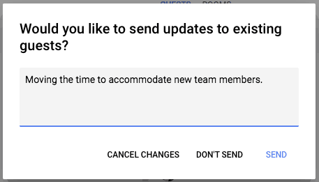 laisser un message sur Google Calendar
