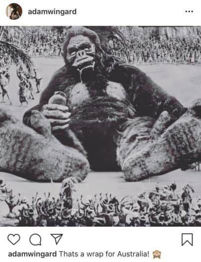 fin de tounage de Godzilla vs. Kong