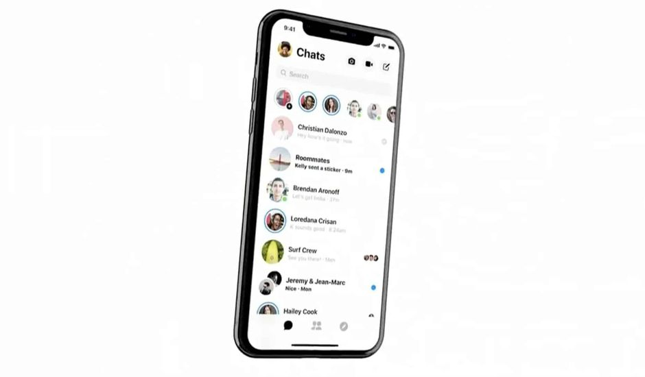 nouveau design Facebook Messenger