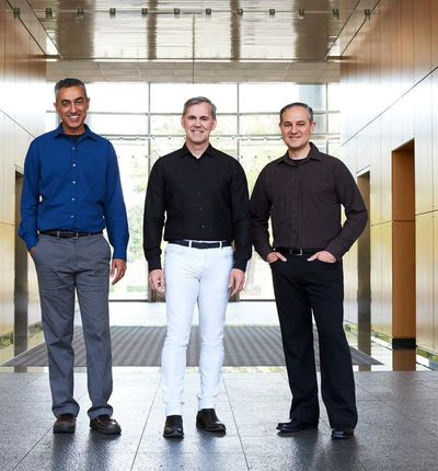 Aperçu des trois co-fondateurs de Nuvia.