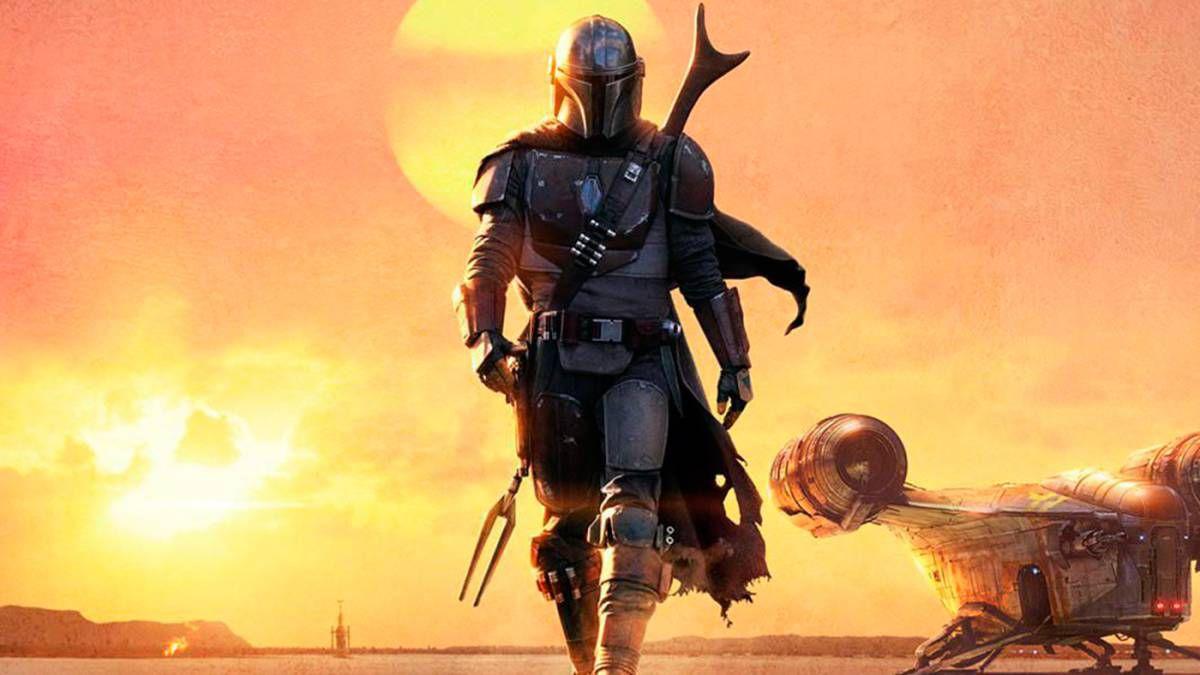 Affiche de la série The Mandalorian.