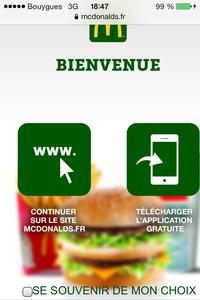 McDo sur mobile