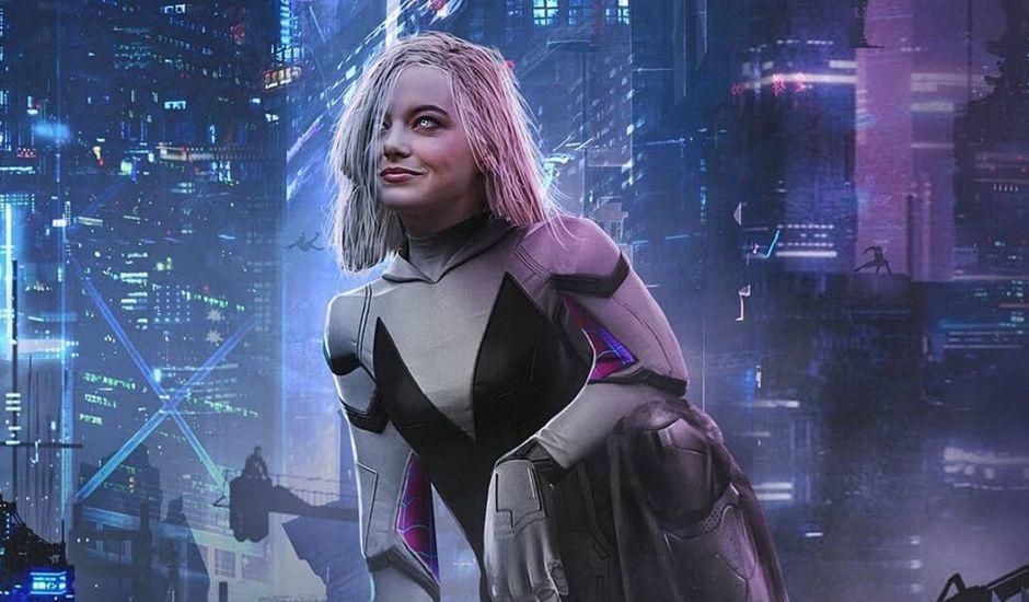 Fanart d'Emma Stone dans le rôle de Spider-Gwen par Pablo Ruiz