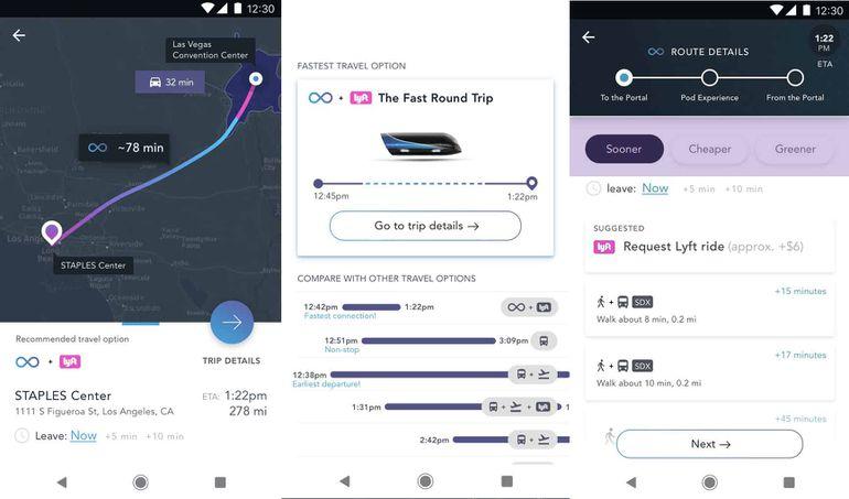 Application mobile virgin hyperloop one