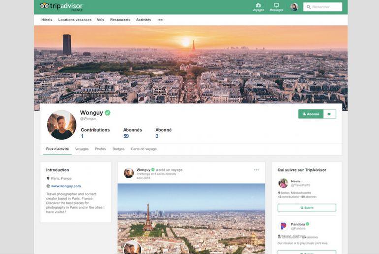 les utilisateurs vont pouvoir créer des profils sur TripAdvisor