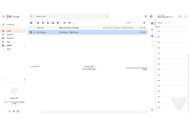 Le nouveau design de Gmail dévoilé