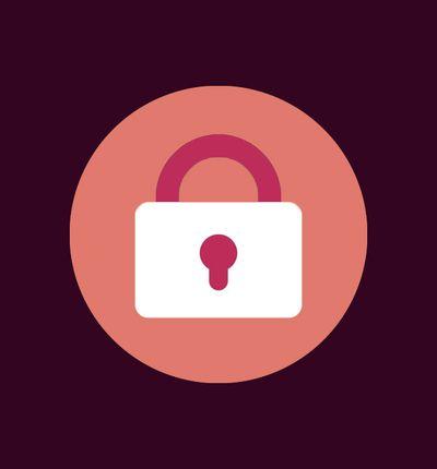Illustration d'un cadenas sur un fond violet.