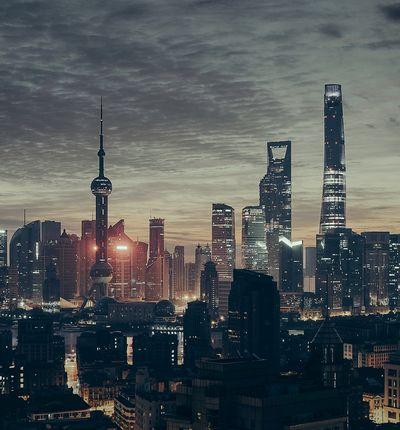 La ville de Shangai de nuit