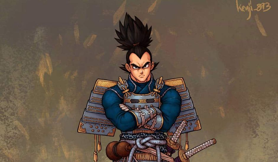 © Kenji893 dragon ball artwork samourai