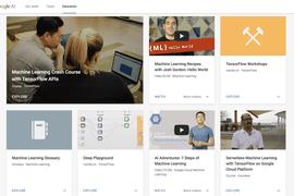 Google lance des tutoriels pour apprendre sur l'Intelligence Artificielle et le Machine Learning.