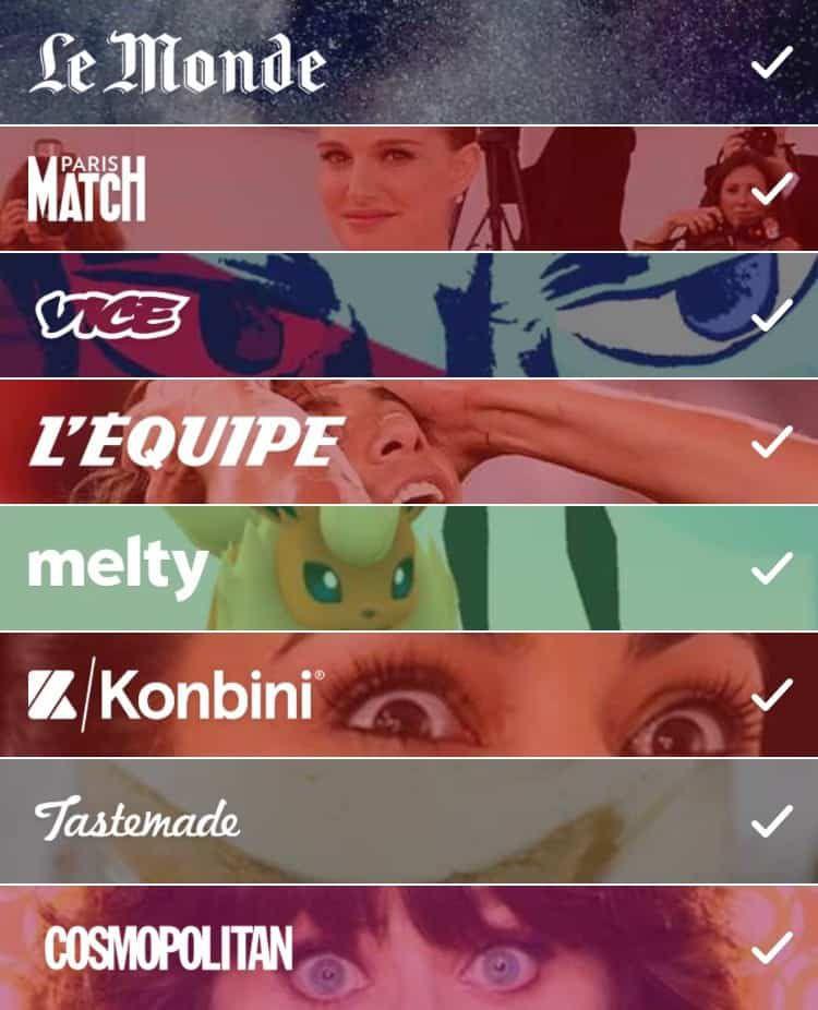 médias français snapchat discover