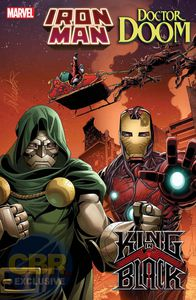 couverture king in black iron man dr doom