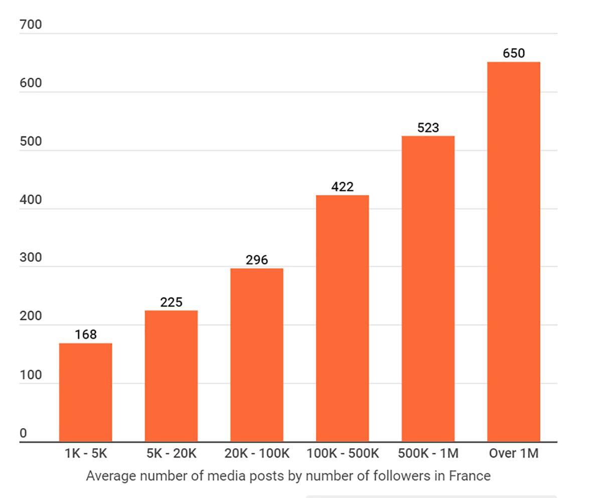 Un graphique des contenus TikTok en France en 2020.