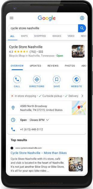 Drive disponible présenté sur un smartphone