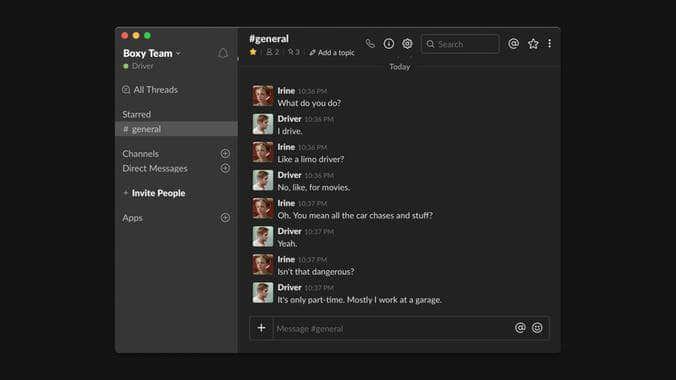 Sblack est un client mac pour ajouter un mode sombre à Slack