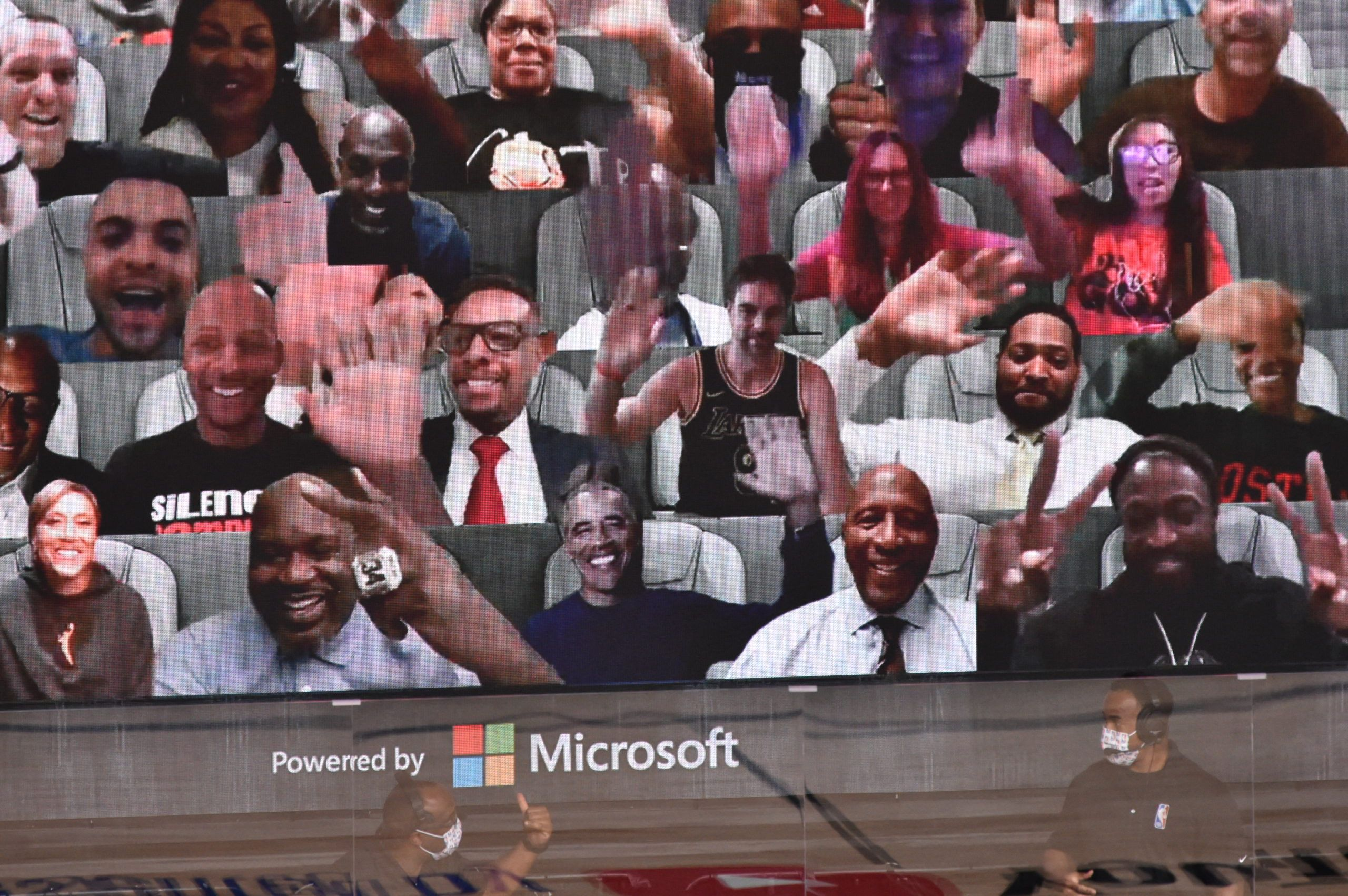 Le mode Together de Microsoft Teams a séduit Barack Obama