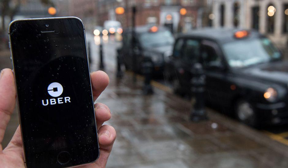visuel de l'application Uber