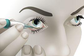 Dispostif de mesure glycémie oeil