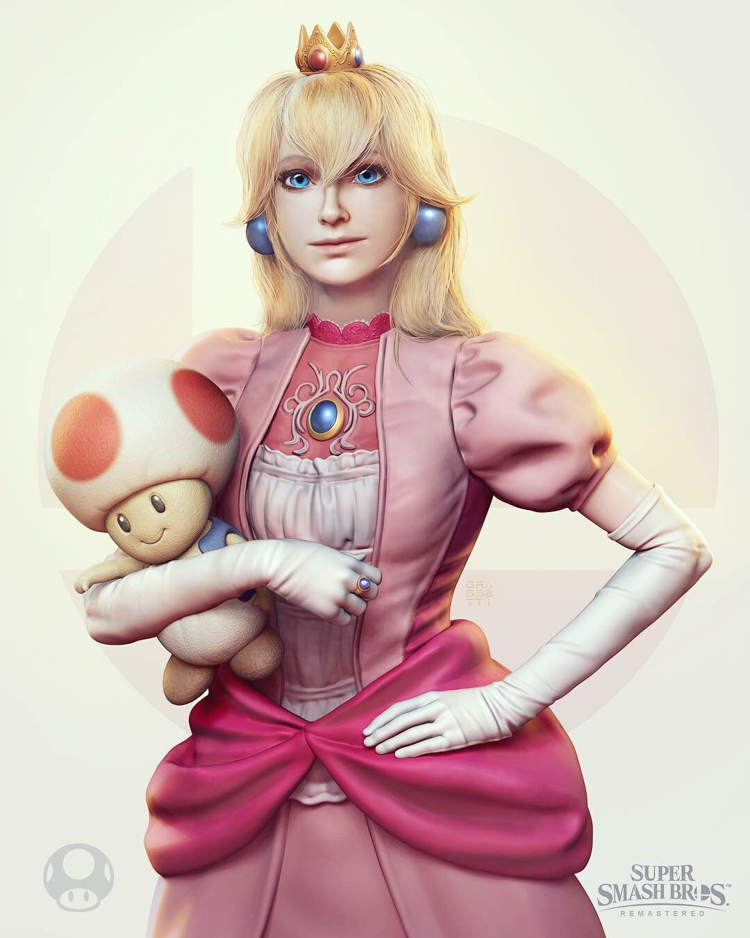 artworks princesse peach toad